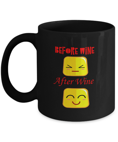 Before Wine After Wine Faces Coffee Mug
