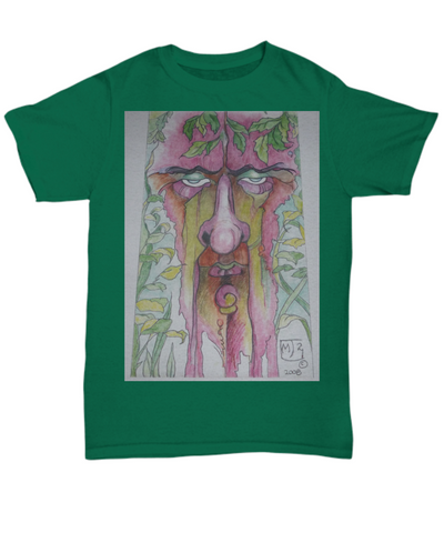Blue Eyeshadow Tree Man Tshirt