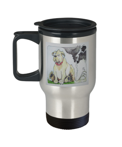 Dog Farting Dead Airspace Funny Travel Mug