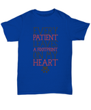 Every Patient Leaves A Footprint On My Heart Vet Tshirt