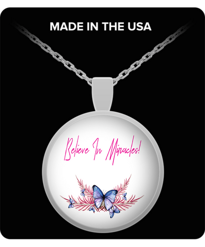 Believe In Miracles Butterfly Pendant Necklace