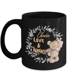 Choose Love & Happiness Teddy Bear Coffee Mug