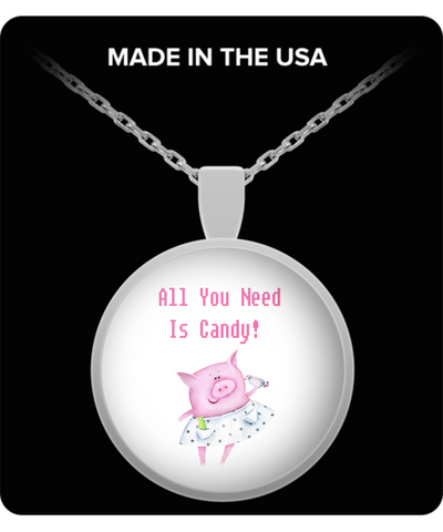 All You Need Is Candy Pig Pendant Necklace