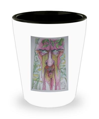 Blue Eyeshadow Tree Man Shot Glass