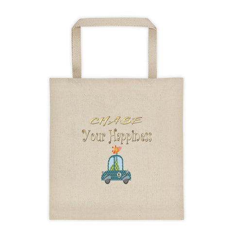 Chase Your Happiness Giraffe In Car Tote Bag