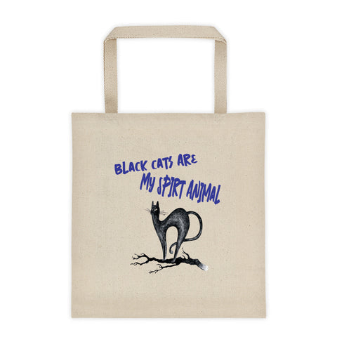 Halloween Black Cats Are My Spirit Animal Tote Bag
