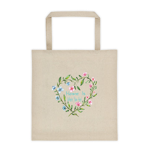 Home Is Where You Are Valentine's Day Tote Bag