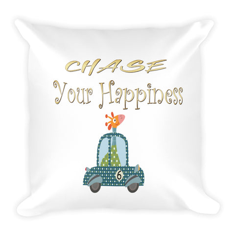 Chase Your Happiness Giraffe In Car Pillow