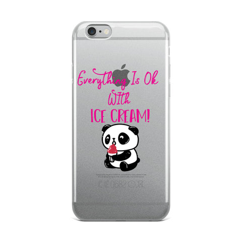 Everything Is Ok With Ice Cream Panda Bear iPhone Case