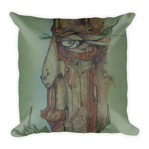 Green Tree Man Pillow Artist Judhe Jensen