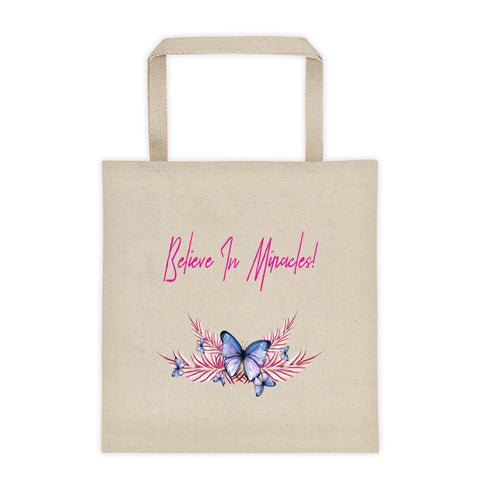 Believe In Miracles Butterfly Tote Bag