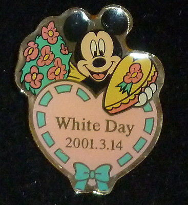 Pins - Disney Mickey Mouse White Day 3-14-2001 Pin