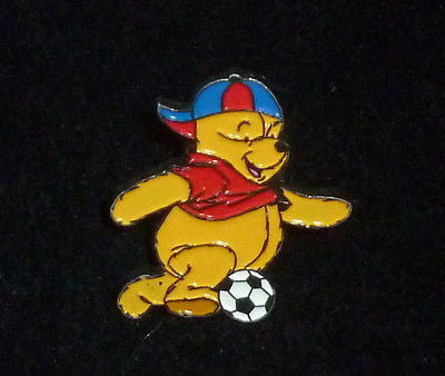 Pins - Disney Winnie The Pooh Playing Soccer Pin