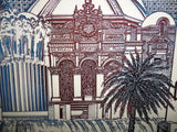 Prints - Vintage Los Angeles Hollywood California Eugene Andreyev Alabaster Marble Etching Picture 1982