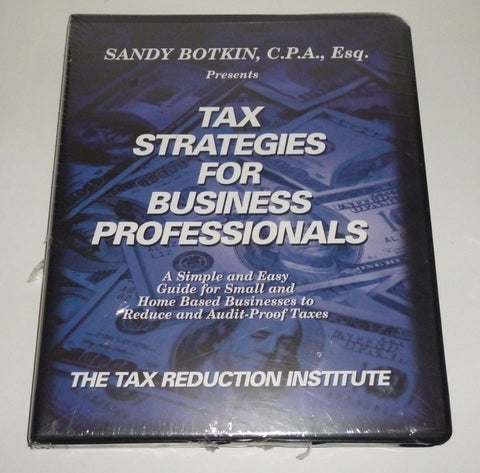Tax Strategies For Business Professionals Audio CD Set. By Sandy Botkin