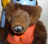 Teddy Bears - California Adventure Rapids Grizzly Bear Wearing Lifejacket With Paddle Plush Animal