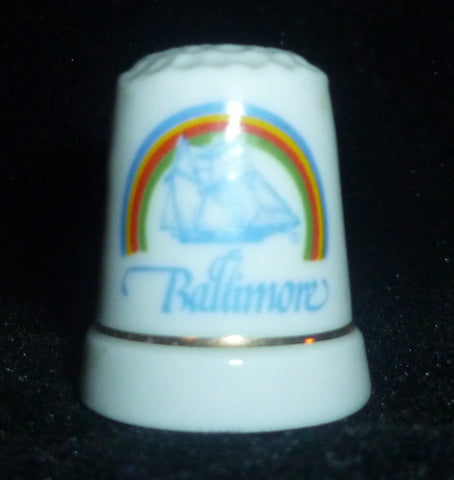 Thimbles - Baltimore Maryland Rainbow & Sailing Ship Thimble