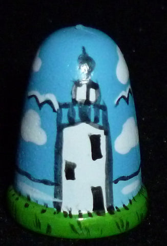 Thimbles - Blue Lighthouse Light House Thimble