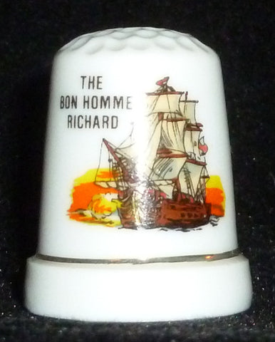 Thimbles - Bon Homme Richard Sailing Ship Thimble