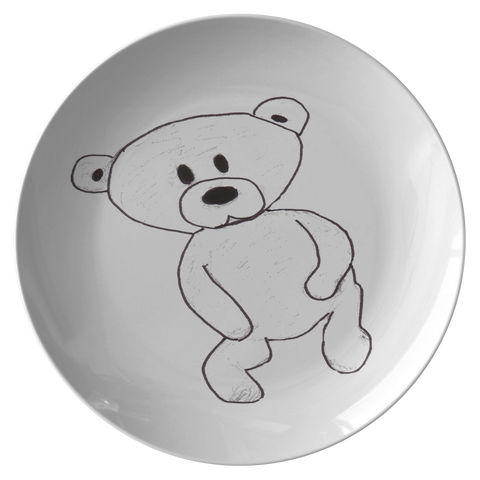 Baby Bear Cub Teddy Bear Plate