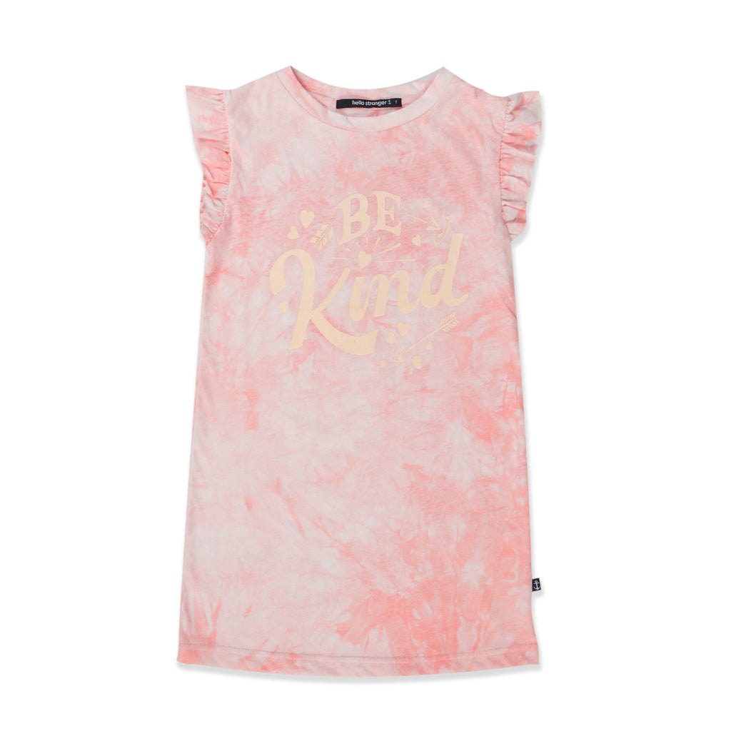Hello Stranger Be Kind Wander Dress - Muted Pink