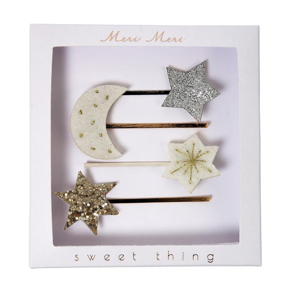 Meri Meri Moon + Star Hair Slides
