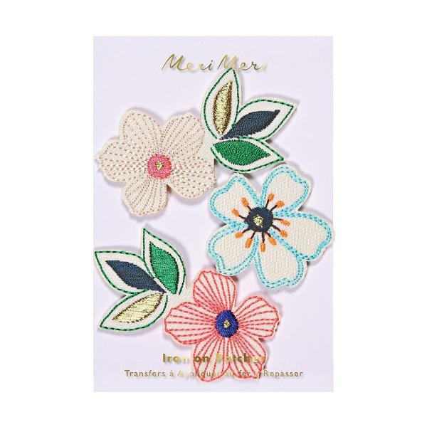 Meri Meri Flowers Embroidered Patches