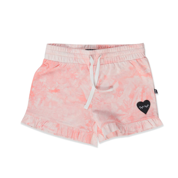 Hello Stranger Frill Shorties - Washed Pink