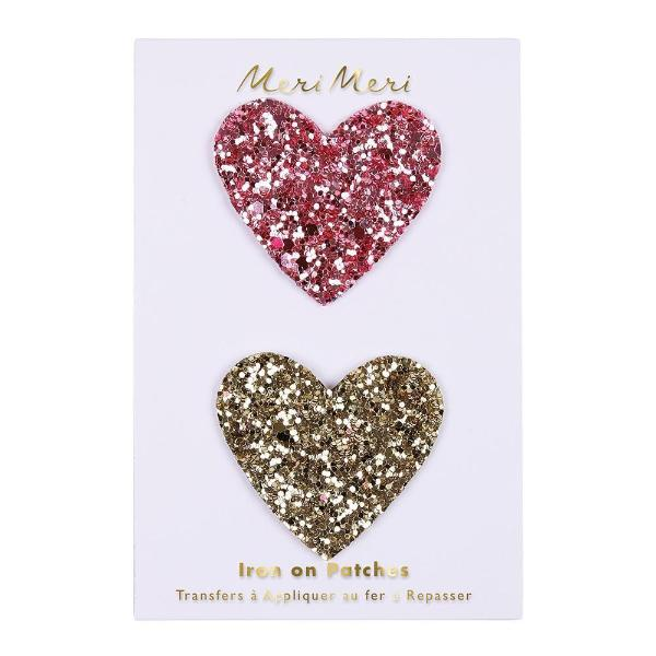 Meri Meri Iron on Glitter Hearts