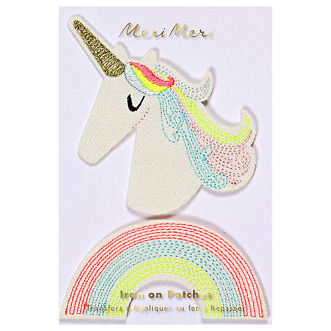 meri meri unicorn embroidered patches