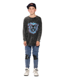 Band of Boys Lion Mane Scoop Back LS Tee - Vintage Black