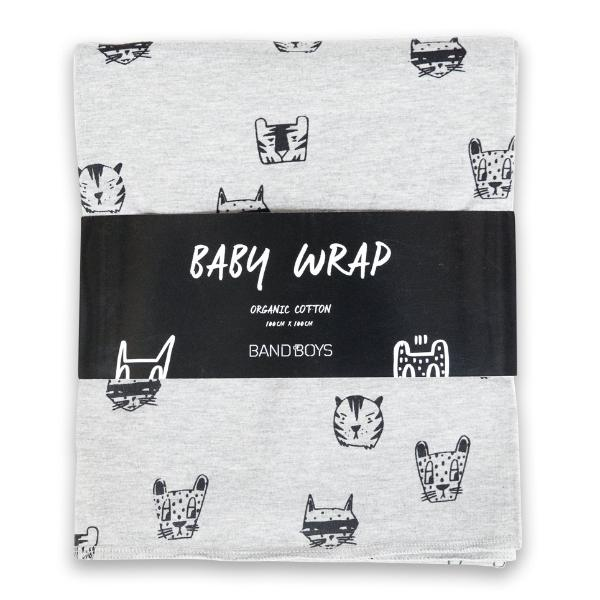Band of Boys Organic Baby Wrap A Cat for Everyone