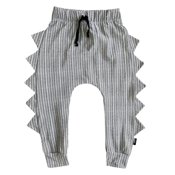 The MiniClassy Ghosted Dino Pant - Grey/White
