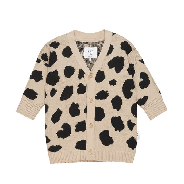 Huxbaby Animal Spot Knit Cardi - Sand