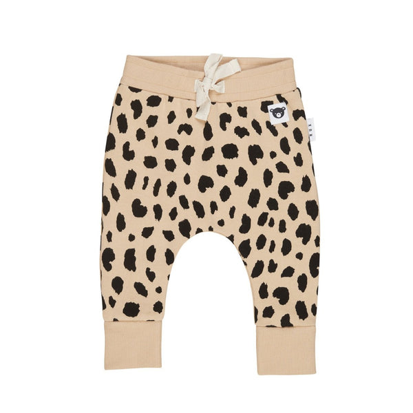 Huxbaby Animal Spot Drop Crotch Pant - Sand