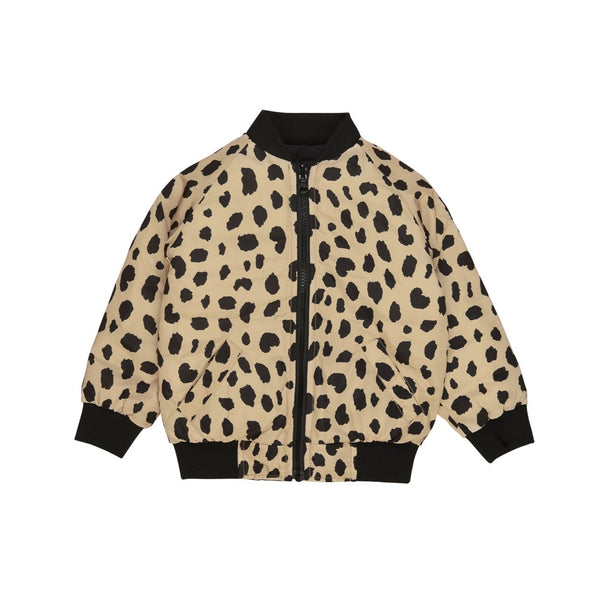 Huxbaby Animal Spot Reversible Bomber Jacket - Black/Sand