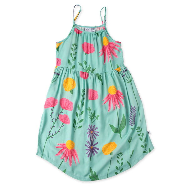 Minti Wild Flowers Midi Dress - Mint (PREORDER)