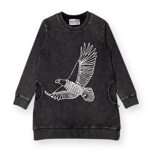 Minti Soaring Eagle Sweater Dress - Black Wash