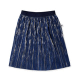 Minti Shimmer Skirt - Royal Blue/Silver