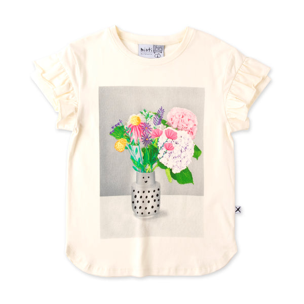 Minti Bouquet Tee - Cream (PREORDER)