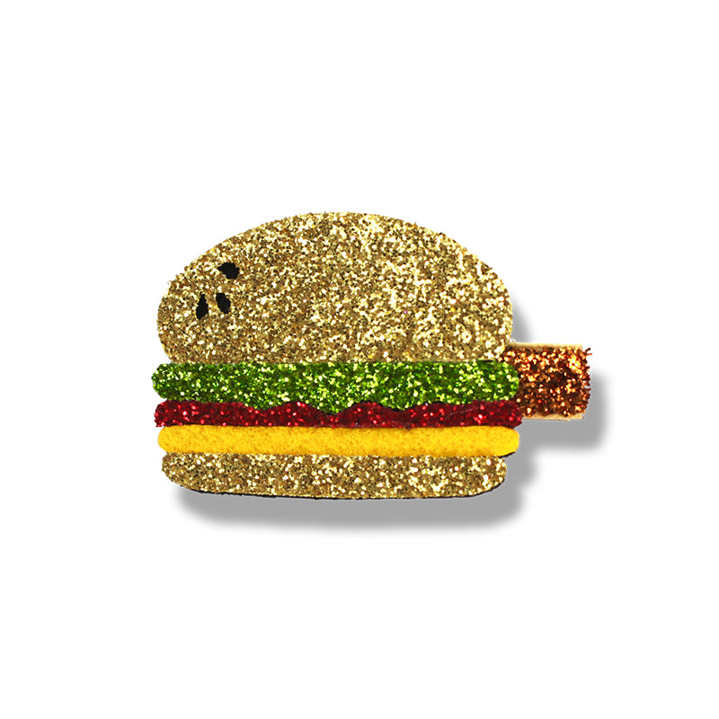 Milk & Soda Junk Food Hair clip Hamburger