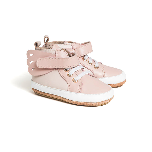 Pretty Brave Hi-Top Pink Butterfly - Blush