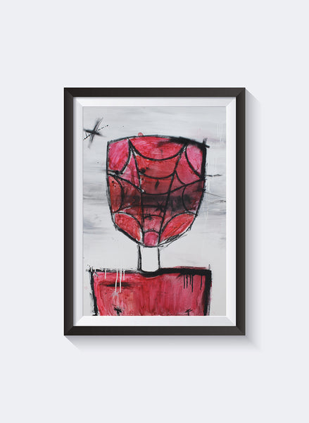 Federation Spidey Back Art Print