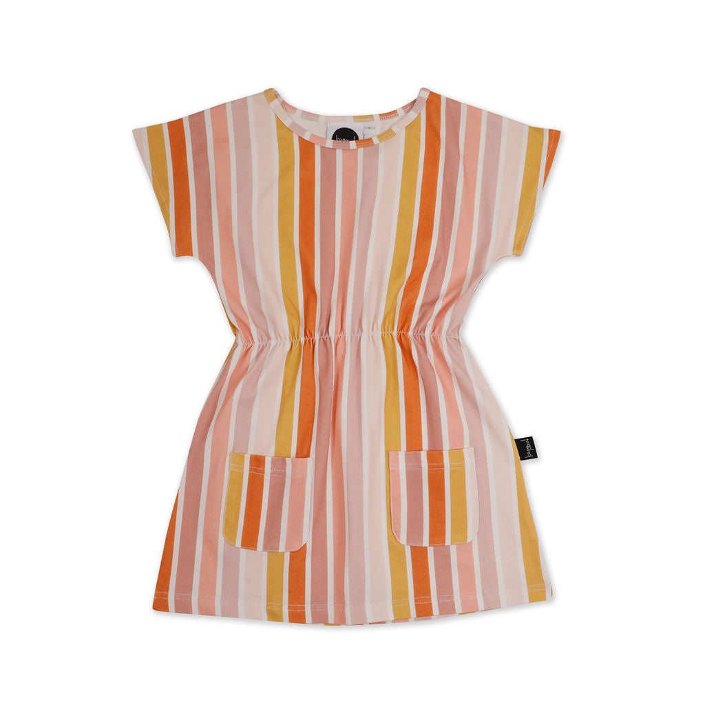 Kapow Beach Stripe Pocket Dress