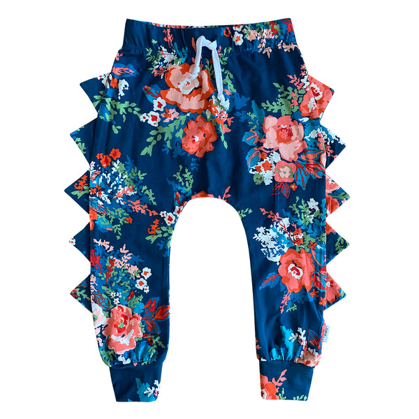 The MiniClassy Spill The Tea Dino Pant - Floral