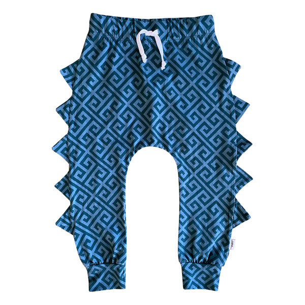 The MiniClassy Greek Freak Dino Pant - Blue