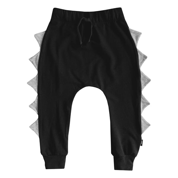 The MiniClassy Silverback Dino Pant - Black/Grey Spikes
