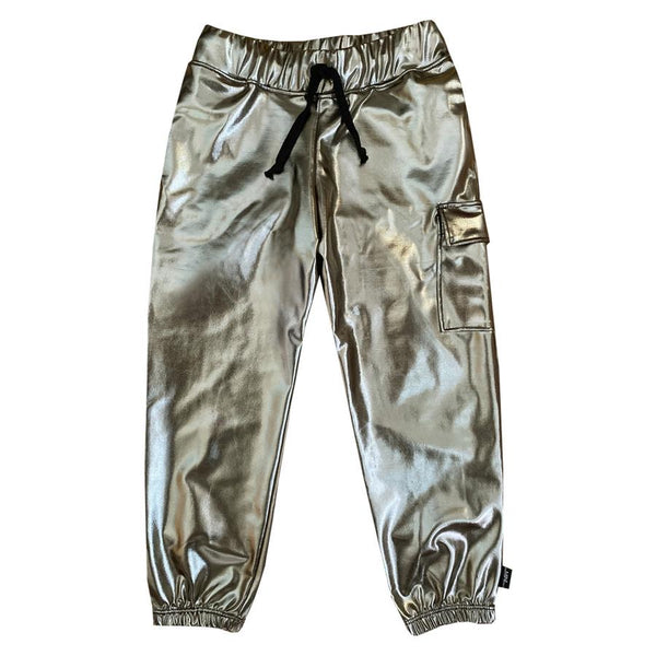 The MiniClassy Metallic Jogger Pant - Gold