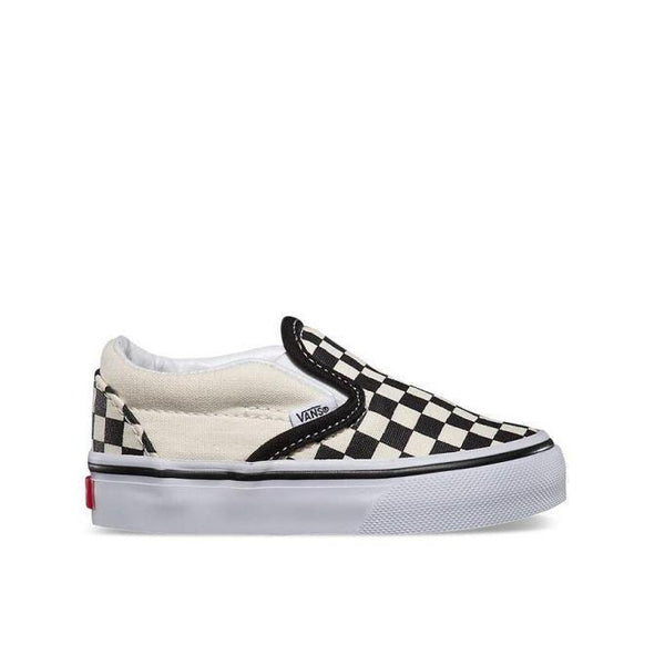 Vans Classic Slip On Checkerboard Toddler - Black/White