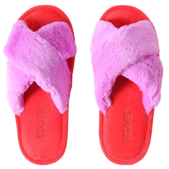 Kip & Co Bubble Raspberry Bubble Kids Slippers